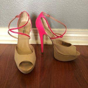 Pink & Tan Steve Madden Heels